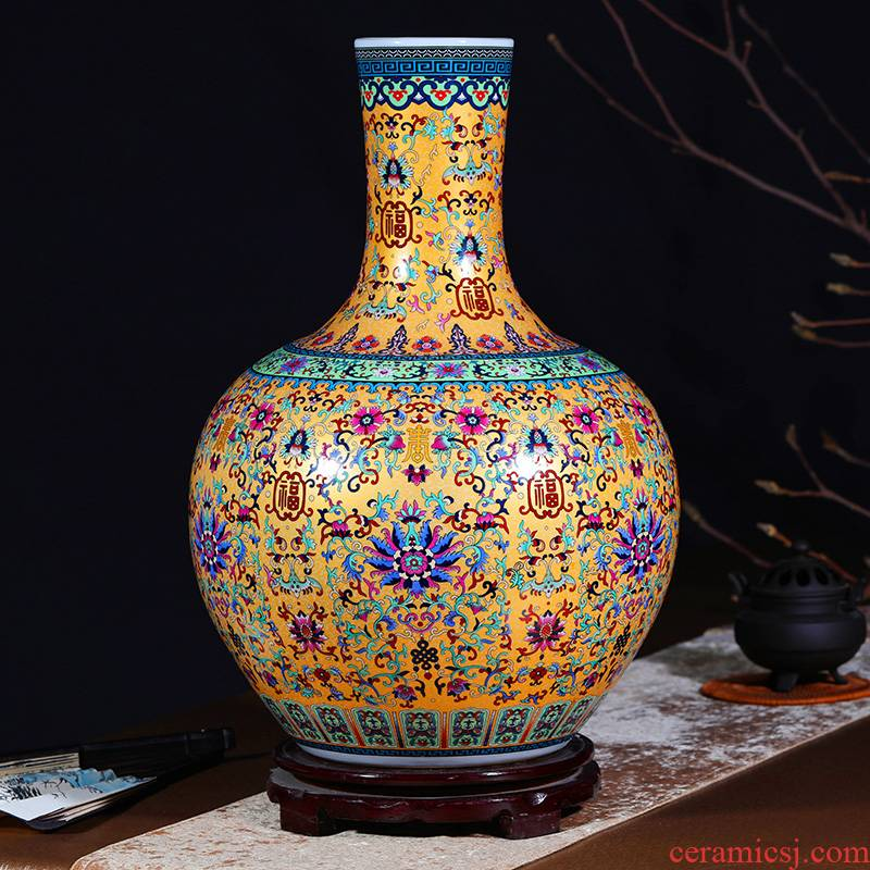 Jingdezhen ceramics of large vases, flower implement flower arrangement sitting room hall study porch decoration porcelain furnishing articles