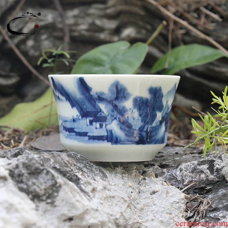 Beijing 's tea ware and auspicious jingdezhen ceramics by hand personal cup sample tea cup private cup cup master CPU