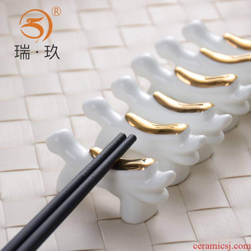10 the loaded ipads China chopsticks rack atmospheric grade ipads China chopsticks chopsticks hotel table form a complete set of ceramic tableware