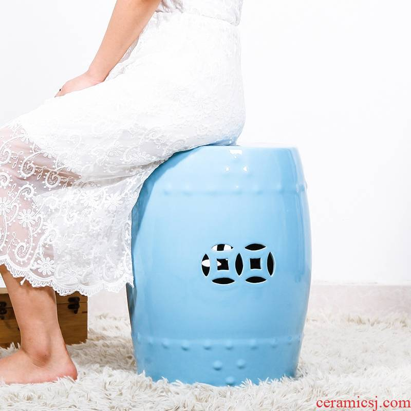 Ceramic drum who hallway in who shoes flower who craft Ceramic who pier side what drum who household decoration furnishing articles