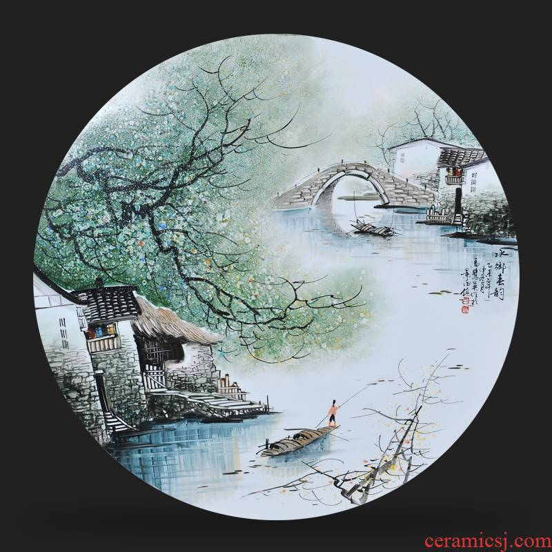 In jingdezhen ceramics Feng Huiying hand - made ChunYun porcelain plate painter adornment picture hanging In the sitting room is placed