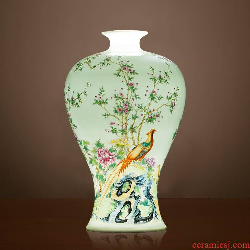 Jingdezhen ceramics, vases, flower arranging place of the sitting room of Chinese style household wine rich ancient frame porch decoration decoration