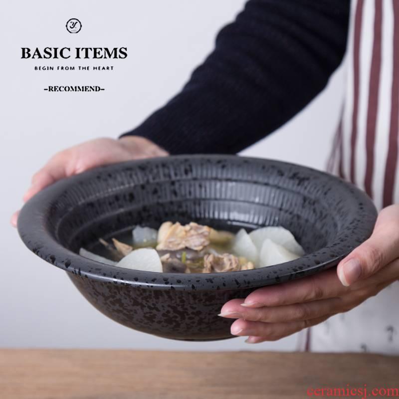 Ceramic bowl under glaze color porcelain tableware rainbow such as bowl of fruit salad bowl bowl of soup bowl creative rice bowls rainbow such use