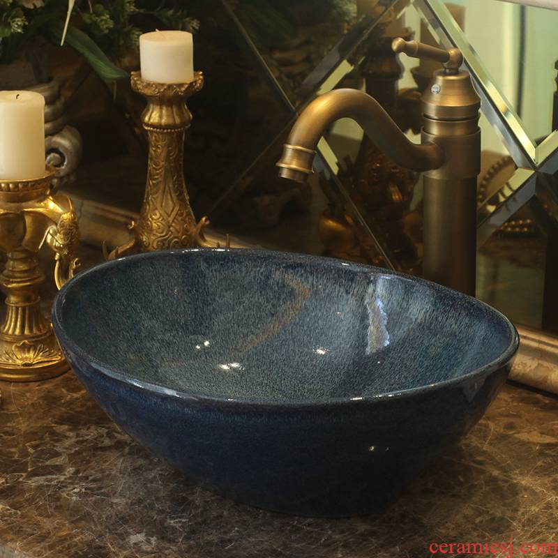Jingdezhen ceramic toilet stage basin rain spring art for wash basin, small family the lavatory toilet lavabo