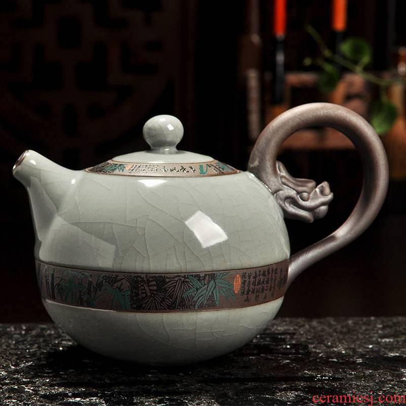 Howe auspicious ceramic teapot your up filter kung fu tea set the teapot tea elder brother up with open large single pot