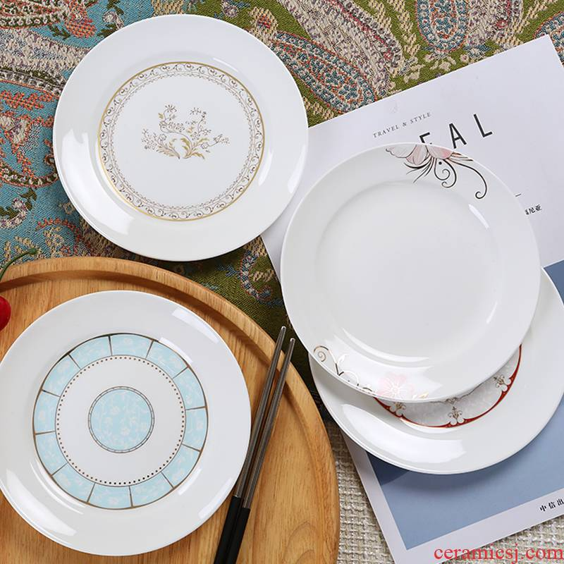 0 ou the ipads porcelain household dim sum dishes of jingdezhen ceramic creative snack plate 6 inches ipads plate