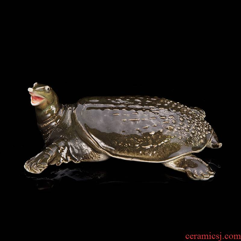 Jingdezhen ceramic lucky turtle simulation animal furnishing articles and modern Chinese creative home decorations holiday gifts