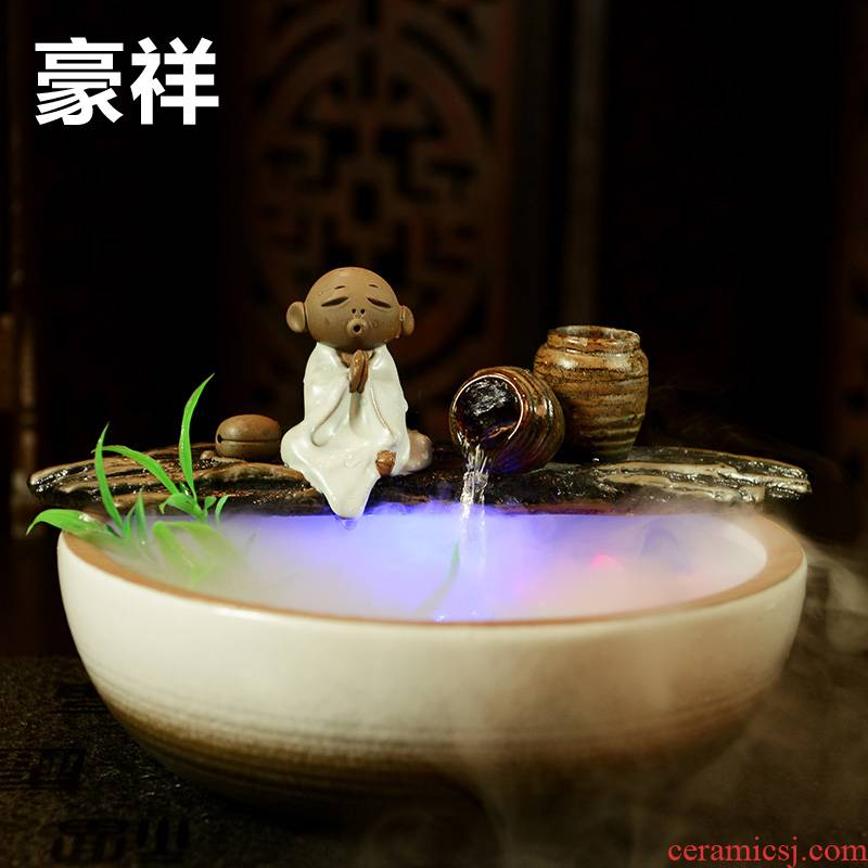 Howe auspicious ceramic water fountain water exchanger with the ceramics office furnishing articles furnishing articles humidifier water sitting room