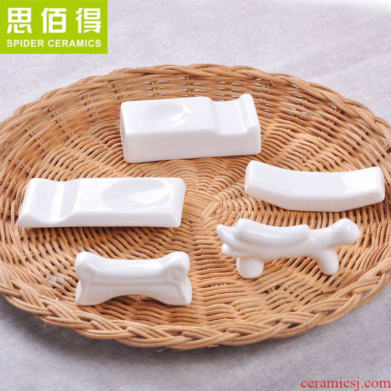 Think hk to 10 packages mail chopsticks holder, ceramic creative amphibious ceramic Japanese chopsticks chopsticks chopsticks pillow chopsticks holder frame