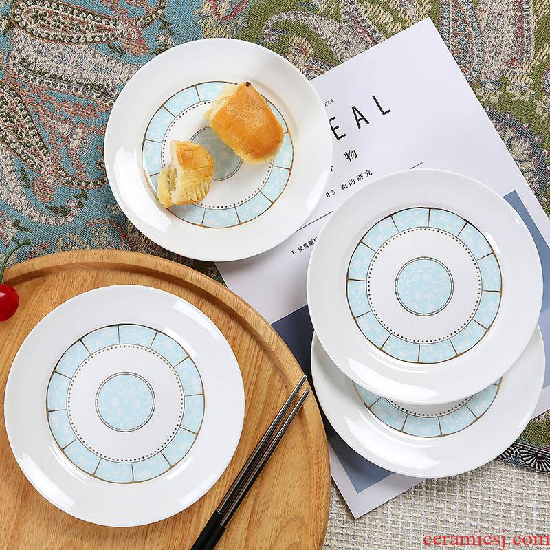 Ipads plate suit household dish dish dish of jingdezhen ceramics European contracted 6 inches of ipads porcelain plates only
