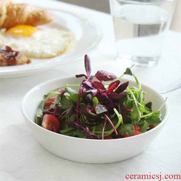 Pure creative cake dish plate ceramic plate dessert plate snack dish fruit bowl side dish