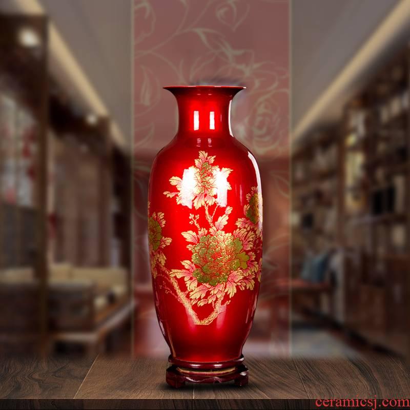 Z020 jingdezhen ceramics, vases, flower arranging is I sitting room home TV ark, handicraft decorative furnishing articles