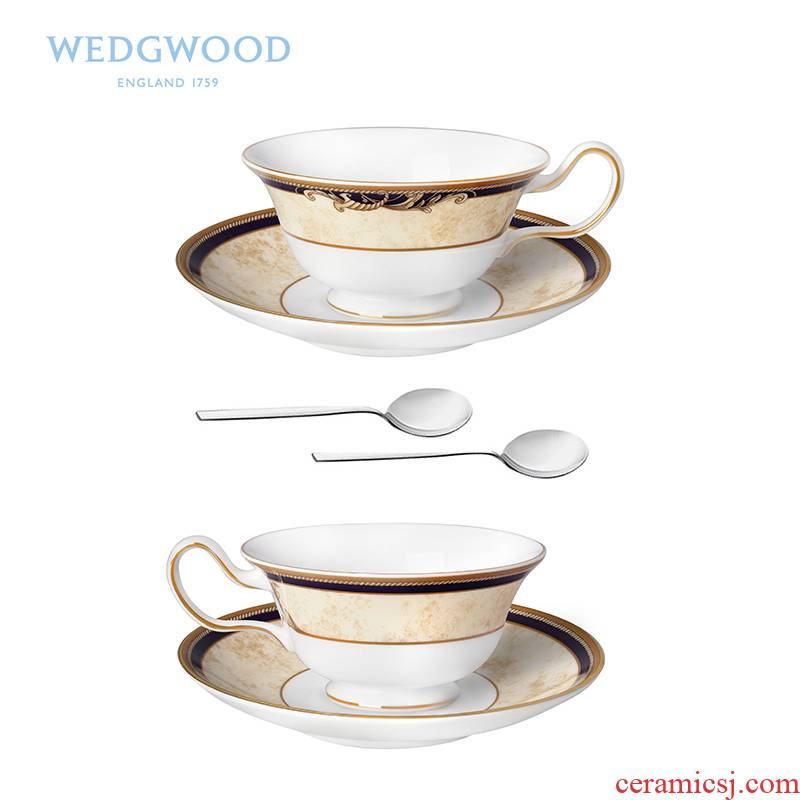 Wedgwood Cornucopia the Cornucopia cup cup 2 disc 2 teaspoons of the ipads China red tea production