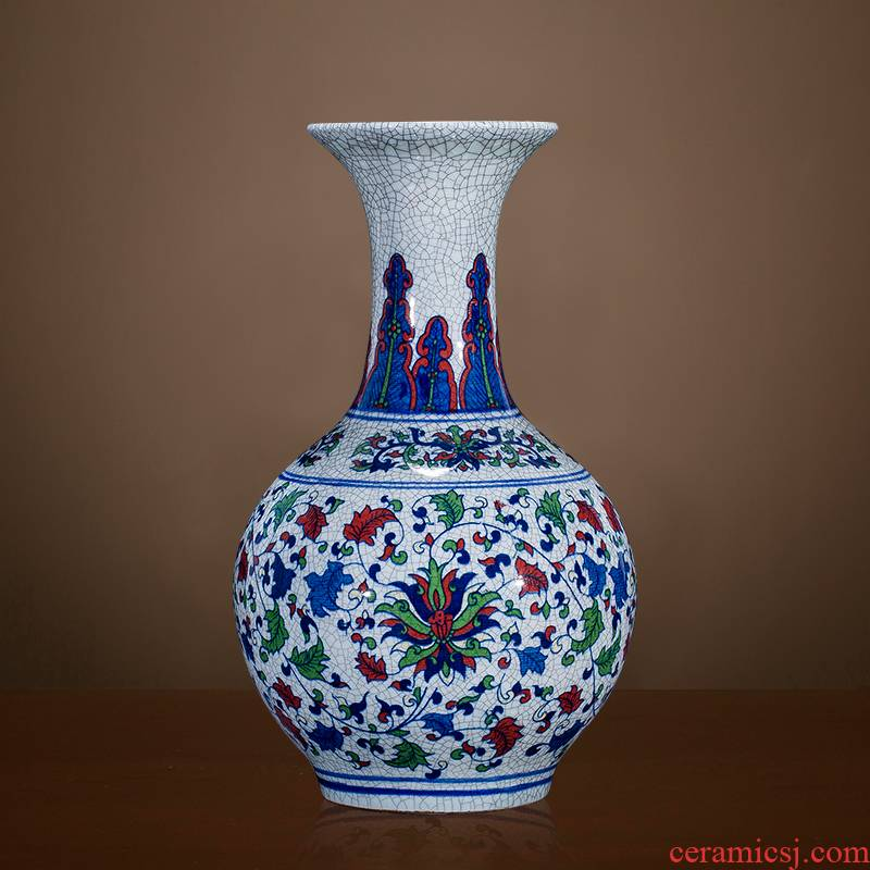 Archaize of jingdezhen ceramics up with blue and white porcelain vases, flower arrangement home sitting room adornment rich ancient frame furnishing articles
