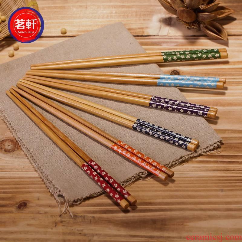 Carbide plain simple ZAKKA jingdezhen chopsticks cherry blossom put held five kinds of model