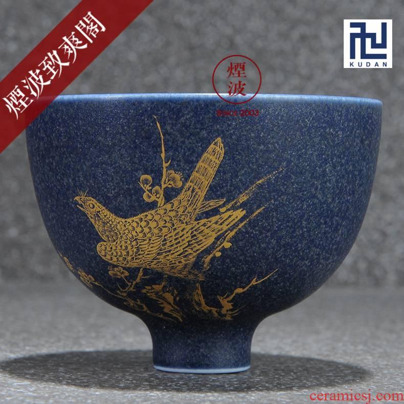 Those jingdezhen nine burn fuels the bluestar glaze wonderful hand burnt work vision tea cups