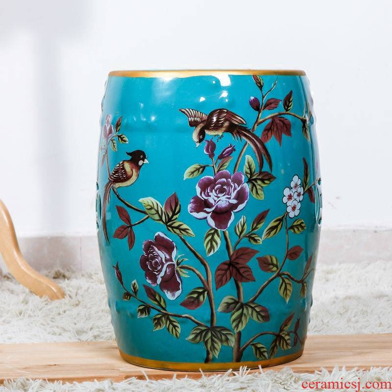Modern Chinese ceramic drum who in shoes who dresser who bar who furniture creative decoration furnishing articles of handicraft