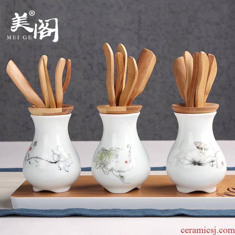 Beauty cabinet ceramic bamboo kung fu tea six gentleman 's household ChaZhen ChaGa steak TSP tea tea taking with zero