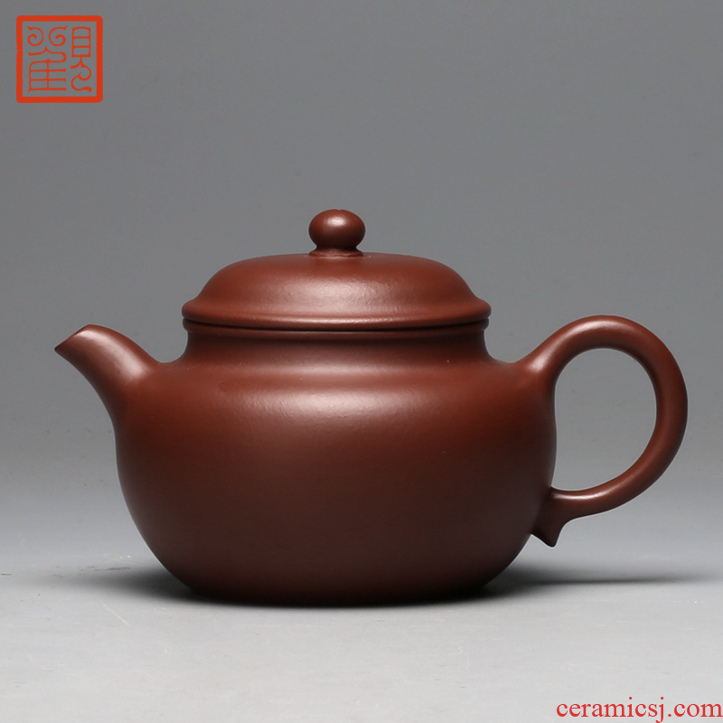 Restoring museum yixing it manual undressed ore mud zhu small kung fu tea pot pot of archaize of tea set