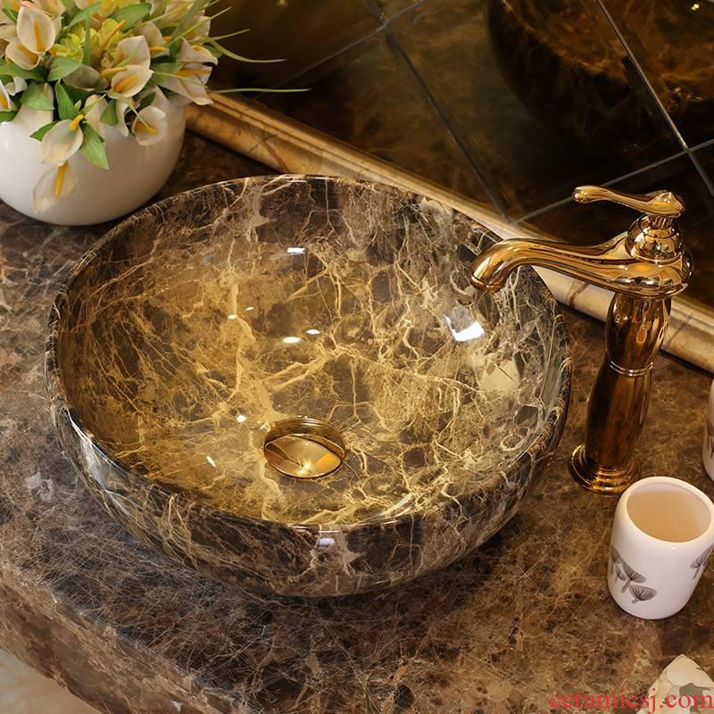 Spring rain jingdezhen ceramic sanitary ware of toilet stage basin sink toilet lavatory basin, art basin