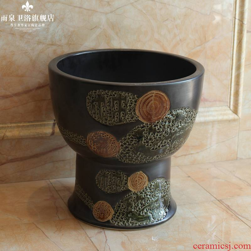 The rain spring basin of jingdezhen ceramic art mop mop pool balcony mop pool European archaize home for wash The mop pool
