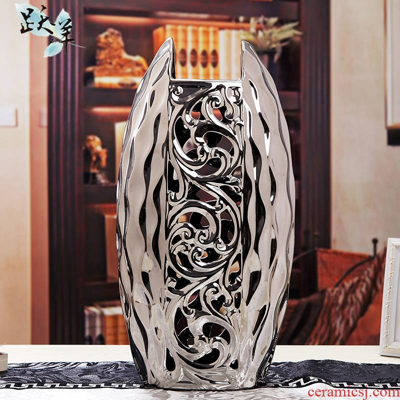 European vase furnishing articles ceramic table land contracted sitting room TV cabinet accessories creative home American arts and crafts