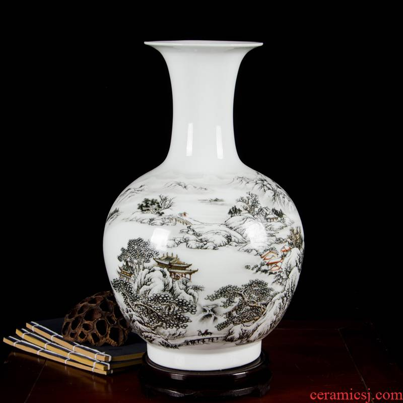 Antique porcelain enamel cb95 jingdezhen ceramics, vases, flower arrangement, home furnishing articles sitting room adornment handicraft