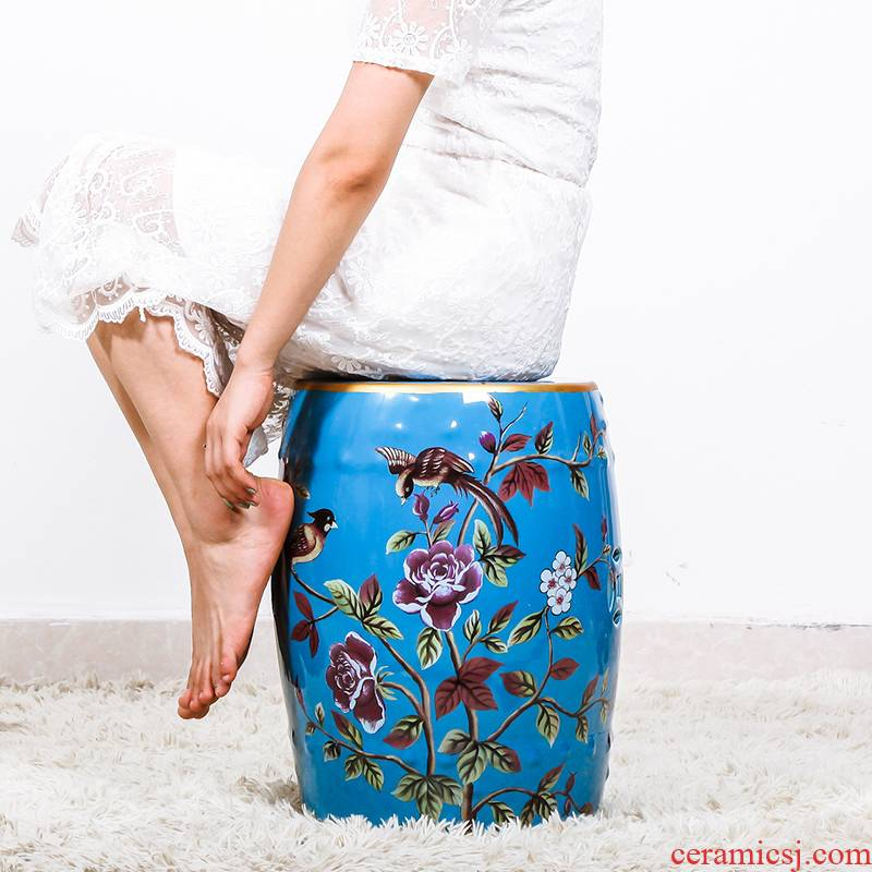 Jingdezhen creative modern American country ceramic drum who in shoes who dressing who household function furniture furnishing articles