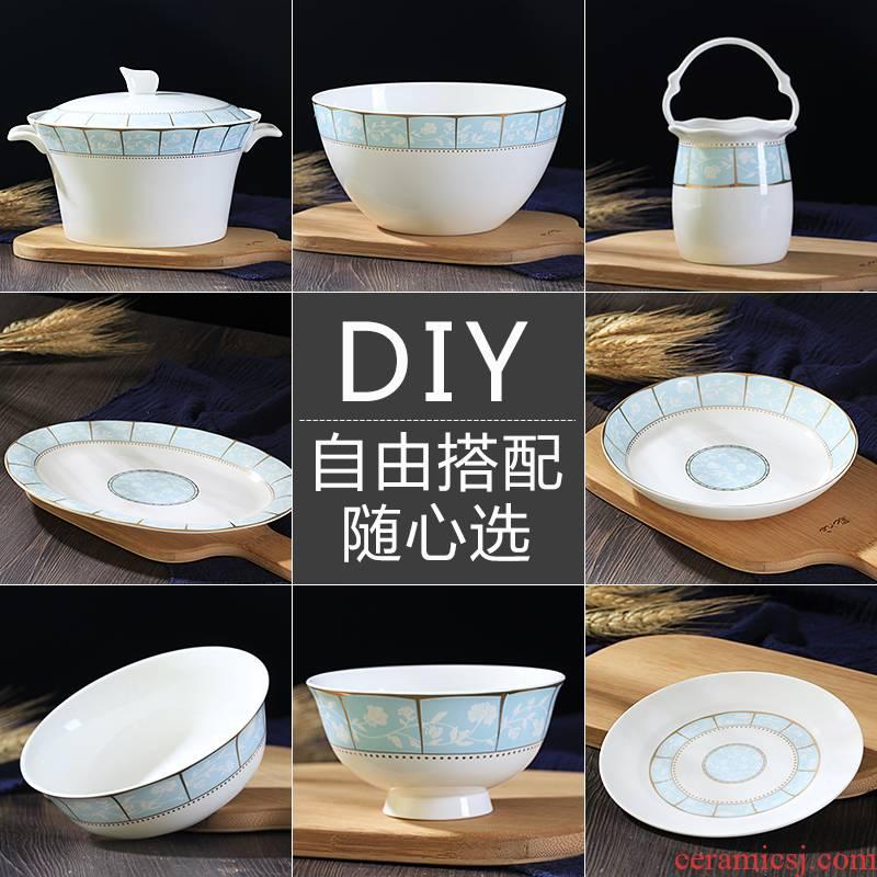Jingdezhen ceramics home dishes suit supporting rainbow such as bowl bowl porringer pot dish plate tableware portfolio