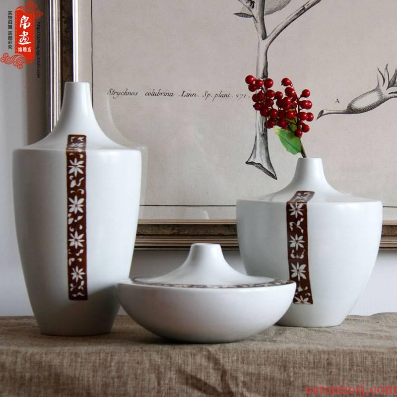 BoHua | jingdezhen ceramics hand - made retro beautiful floral decoration home desktop flower place porch