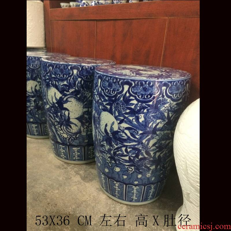 53 cm high hand - made jingdezhen blue and white porcelain of xiantao blue and white classical move who porcelain who table accessories