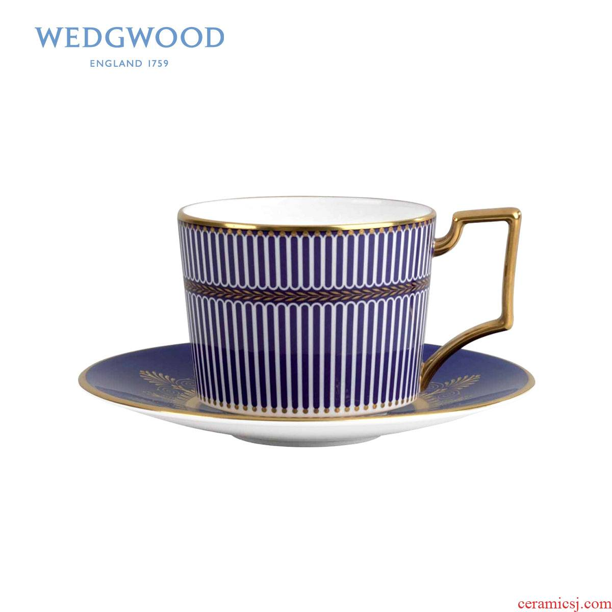 Wedgwood & amp; Bentley Bentley LanYao goldcord blue/pink ipads porcelain cup of a disc of suits for