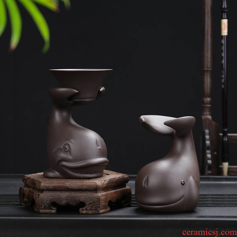 Violet arenaceous creative) kung fu tea set filter network frame tea accessories play home furnishing articles tea to keep water