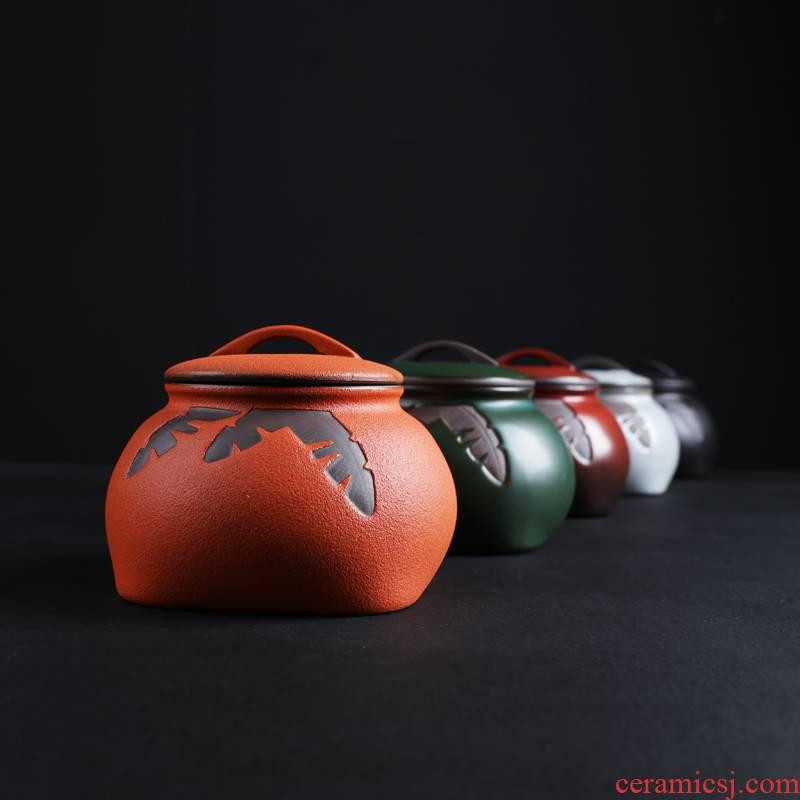 Ceramic seal pot home make tea tea caddy fixings zero with kung fu tea tea urn storage box