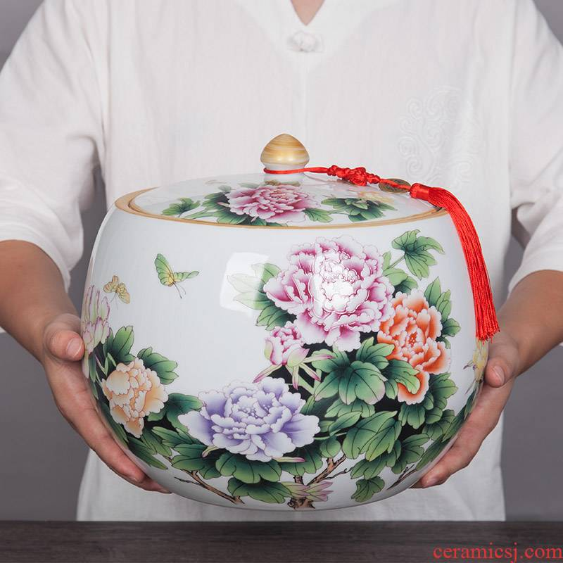 New Chinese style household storage tanks of jingdezhen porcelain jar ceramic household act the role ofing is tasted furnishing articles storage tank caddy fixings