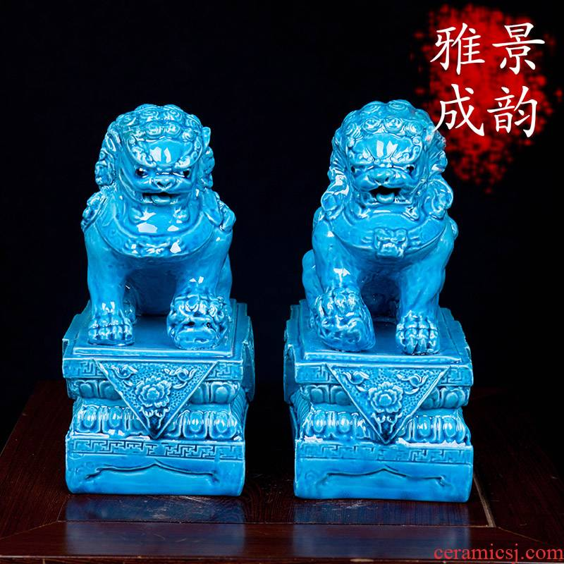 Jingdezhen ceramic new Chinese wine ark, adornment place to live in the sitting room porch craft porcelain decoration decoration