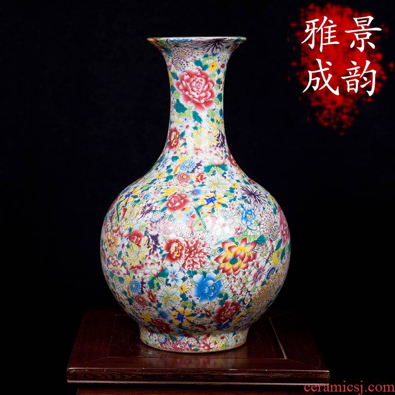 Jingdezhen ceramic manual pick flower vases, flower arranging furnishing articles household act the role ofing is tasted, the sitting room porch decoration craft porcelain