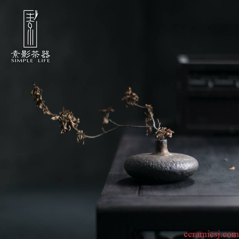 Plain film of Chinese style restoring ancient ways flower implement ceramic crafts tea pet gold furnishing articles sitting room home decoration vase