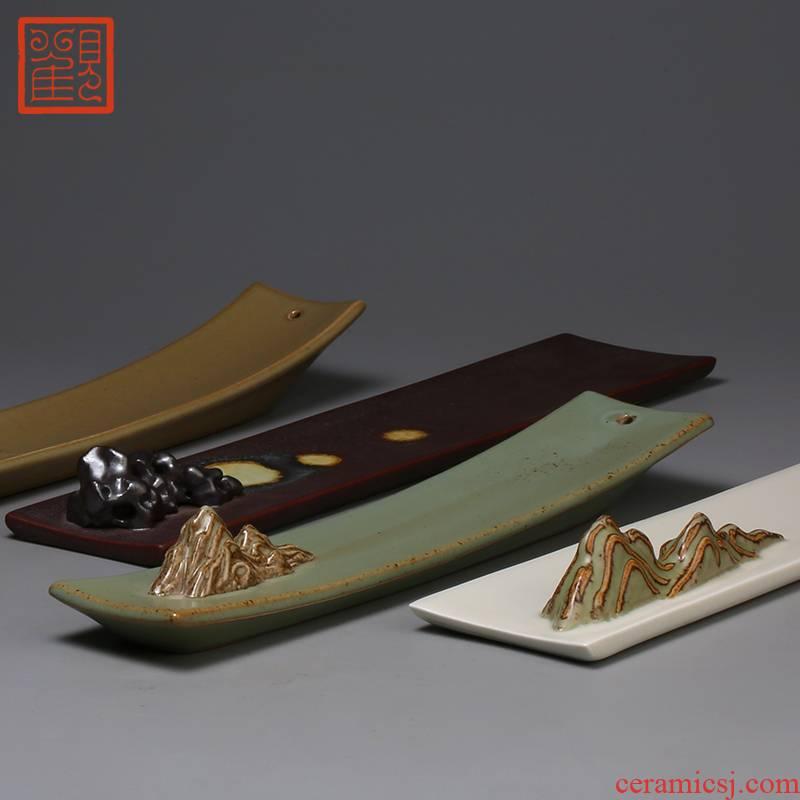Restoring creative ceramics museum line xiang xiang put incense plate ta lie the present incense plate zen head