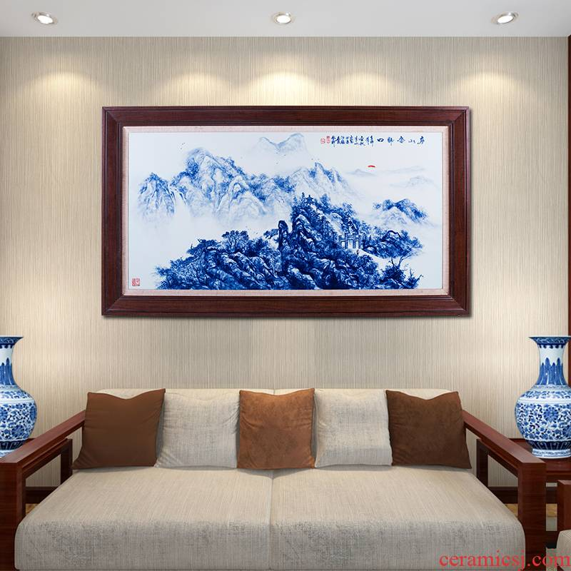 Jingdezhen ceramics hand - made porcelain plate painting the sitting room adornment study background wall hangs a picture porch murals murals