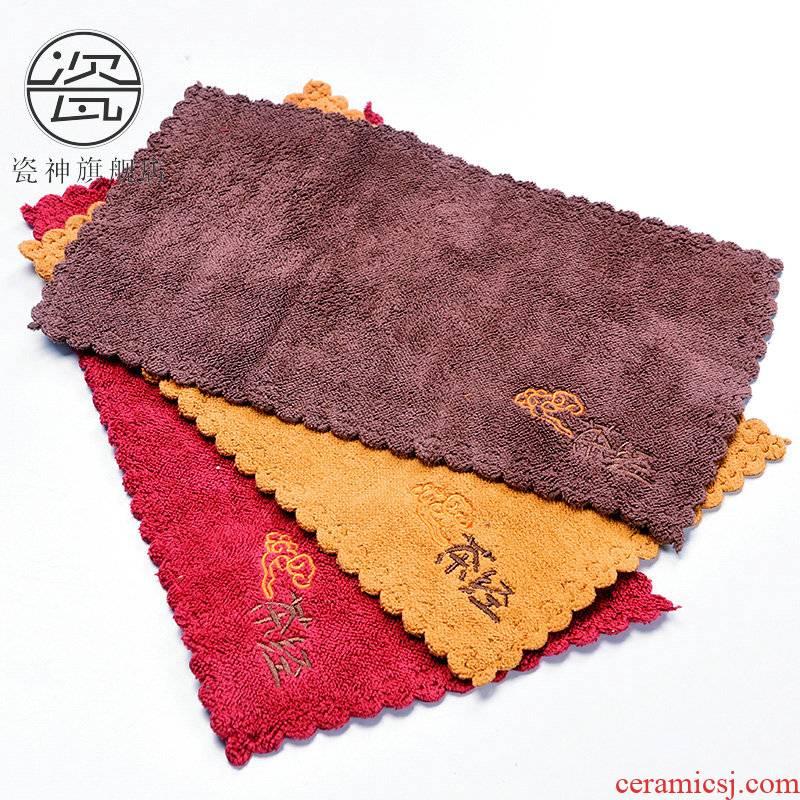 Porcelain god more absorbent towel cloth tea towel wipe tea tea with parts cotton kung fu tea cups