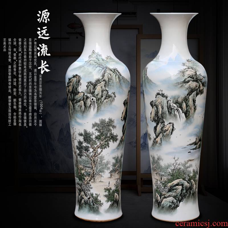Jingdezhen ceramic famille rose porcelain has a long history in the hand - made be born big vase sitting room that occupy the home furnishing articles opening gifts