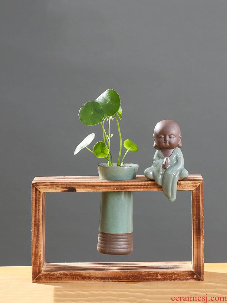 Chinese wind indoor other hydroponics vases, ceramic creative move wall wash water pot flowers small vessels