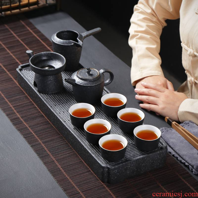 Poly real (sheng travel tea set suit portable household contracted Chinese kung fu tea tea gift box sitting room sets tea tray
