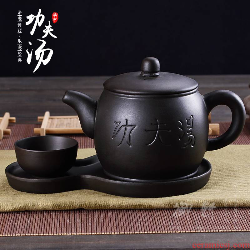 Large capacity of 450 ml yixing it hotel restaurants teahouse kung fu soup ceramic teapot zhu mud rushed the kettle