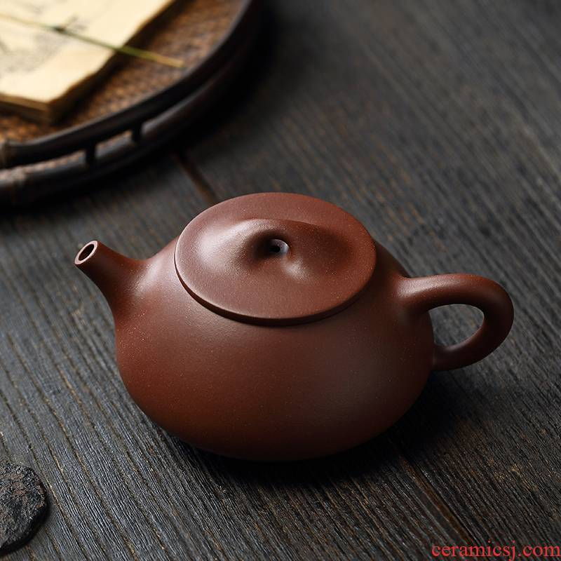 Liu2 xing producer are it undressed ore low cloud cloud 】 【 slot the qing classic stone gourd ladle JingZhou checking tea kettle