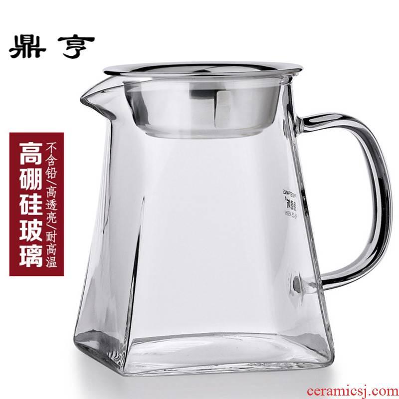 Ding heng tea machine belt thickening glass fair keller heat points) kung fu tea sets accessories large tea tea