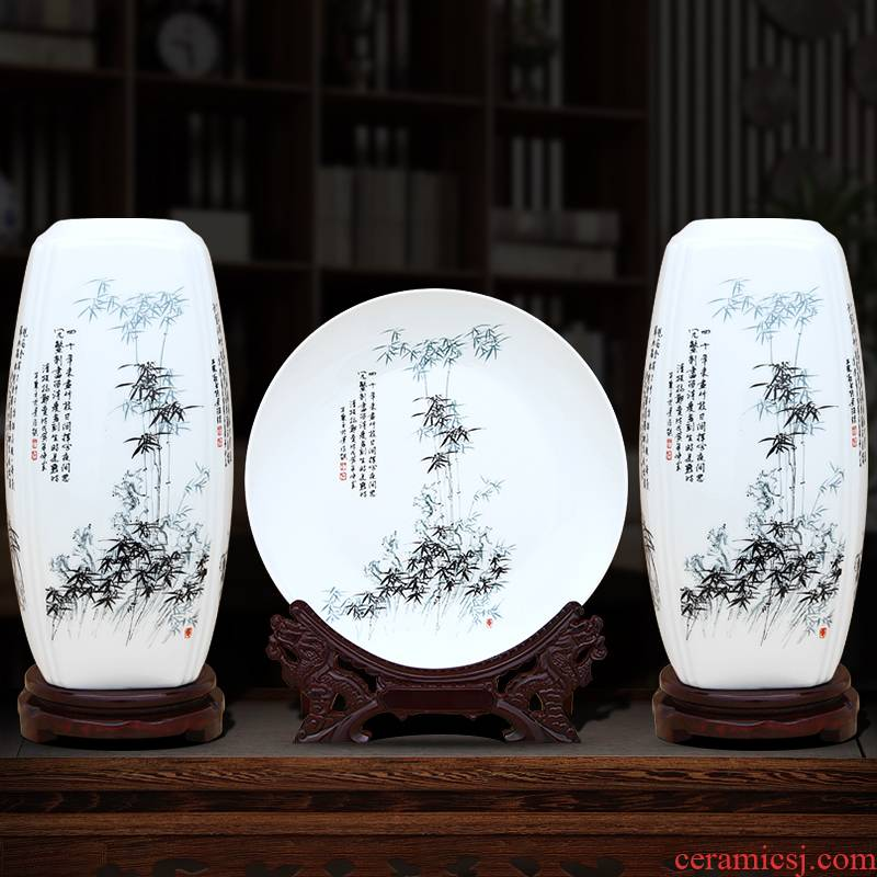 Insert jingdezhen ceramics vase furnishing articles Chinese by patterns sitting room home rich ancient frame TV ark, adornment