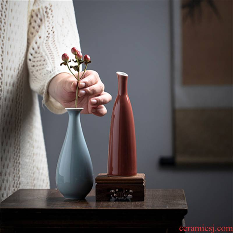 New Chinese style hand - made ceramic flower tea flower cut jewelry blue and white porcelain bottle household furnishing articles hydroponic flowers