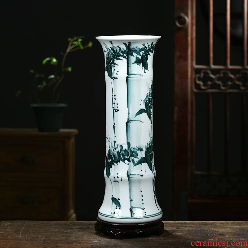 Jingdezhen ceramics vase sitting room adornment of Chinese style household furnishing articles hydroponic lucky bamboo dried flower flower vase